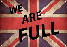 """""""Bandera Reino Unido """" We Are COMPLETO, Letrero Metal, esmalte, no.519"""