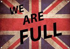 """UNION JACK FLAG"" WE ARE FULL,  Metal Sign, Enamel, No.519"