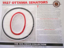 Willabee & Ward ~ Nhl Throwback Hockey Patch & Info Card ~ 1927 Ottawa Senators