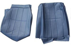 ONE VOLVO 240 245 265 SEAT COVER ORIGINAL UPHOLSTERY 4 line BLUE VINYL 5147,1430