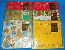 Vintage Gift Wrap Lot Of 6 ~ New
