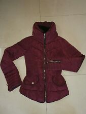 Primark Fitted Puffa Jacket With Fur Trim collar size uk4  small