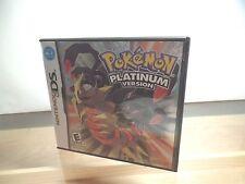 Pokemon -- Platinum Version (Nintendo DS, 2009) DSlite DSi 3DS XL Complete +free