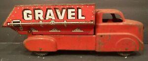 Vintage Marx Pressed Steel Sand & Gravel Dump Truck Litho Original Paint