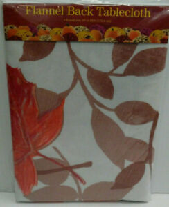Fall Leaves - Vinyl / Flannel Backed Tablecloths - Two Sizes - You Choose Size