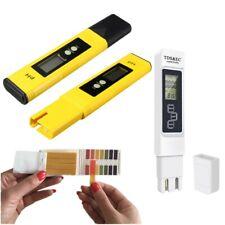 Digital LCD PH TDS EC Meter Tester Pocket Pen Pool Drinking Water Test Strips