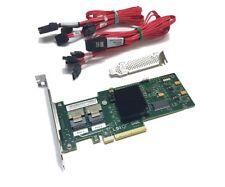 IBM M1015 6Gbps SATA/SAS HBA Controller IT MODE inkl. 2x Kabel Full & Low Profil