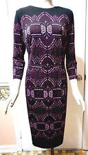 NWT White House Black Market 3/4-Sleeve Medallion Printed Knit Sheath Dress, 6