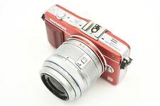 Olympus PEN MINI E-PM2 16MP Digital Camera (Red) w/ 14-42mm II R Lens  #P1330