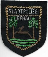 Polizei BAYERN Stadtpolizei  REHAU  Abzeichen handgest. Patch StaPo 60er Jahre