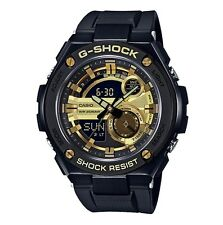 Casio G-Shock G-STEEL *GST210B-1A9 Gold w/ Black Steel Case Resin Strap