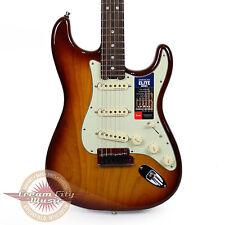Brand New Fender American Elite Stratocaster Strat Tobacco Sunburst Demo