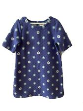 Gymboree Girls Dress - size 7 - Heather Blue With Flowers - Excellent Condition