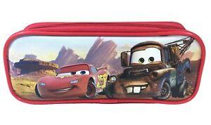 Disney Cars Movie Mc Queen & Mater Red Color Pencil Case Pencil Pouch