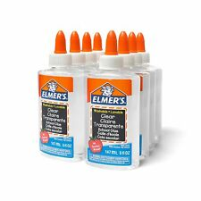 Elmer's Liquid School Glue Clear Washable 5 Ounces 8 Count - Great for Making sl