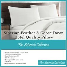 New Luxurious Natural 100% Siberian Goose Feather and Down Pillows Hotel Quality