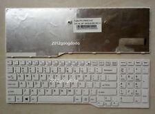 "New for Fujitsu Lifebook AH53M AH555 AH574 AH42 FMVA42SW US keyboard white 15.6"""