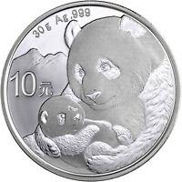 China Panda 10 Yuan 2019 Silber Anlagemünze Stempelglanz in Münzkapsel