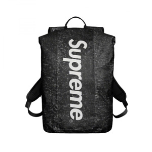 Supreme 100% genuine Waterproof Reflective Speckled Backpack Black - new