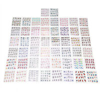 50 Sheets Nail Art Transfer Stickers DIY 3D Design Manicure Tips Decal Decor New