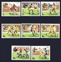 Fútbol Camboya (58) serie completo 8 sellos matasellados