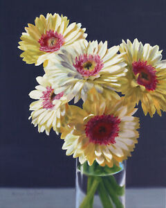 DANFORTH Daisies 10x8 still life realistic oil painting flowers floral