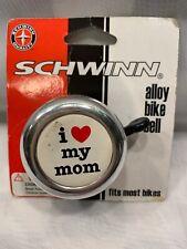 "Schwinn Alloy Bike Bell ""I Love My Mom"" New 2007"