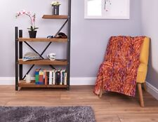 Large Warm Sofa Fleece Throw Bacon Rasher Design Soft Bed Blanket Chair