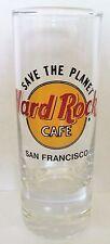 "HARD ROCK CAFE SAVE THE PLANET SAN FRANCISCO   BLACK LETTERS  4"" SHOT GLASS"