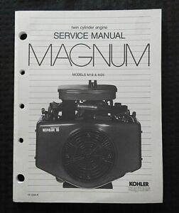 GENUINE KOHLER MAGNUM M18 M20 18 & 20hp LAWN MOWER ENGINE SERVICE MANUAL NICE