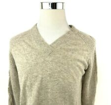 Griffen 100% Cashmere Knit V Neck Pullover Sweater Womens Large NWT