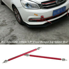 "2PCS Adjustable 150mm 5.9"" Front Bumper Lip Splitter Rod Strut Tie Bar Support"
