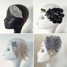 Feather Hair Clip Headband Gatsby Party Bridal Costume Evening Dress Headpiece