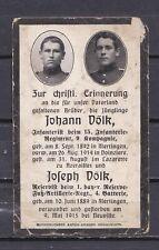 Sterbebild - 1.WK - Brüder - Doinziere - Neuville