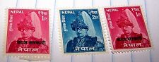 NEPAL 1965 STAMP SET KING MAHENDRA OVERPRINTED # MNH LOT 207