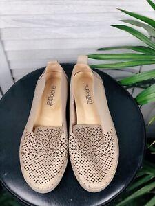 Diana Ferrari Supersoft Leather Flats, Ballet Shoes, Nude, Beige, Size 37c