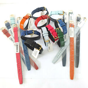 JOB LOT OF 10x14mm MIXED COLOUR 1 PIECE CABOUCHON LEATHER WATCH STRAPS. EASY FIT