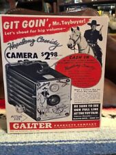 "Hopalong Cassidy Git Goin' Camera Poster Ad Tabletop Display Standee 9 1/2"" Tall"