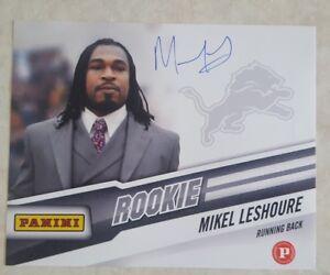 MIKEL LESHOURE Signed DETROIT LIONS 8 x10 PHOTO AUTOGRAPH PANINI ROOKIE CARD