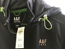 Abercrombie & Fitch Mens Hoodie, Blue XXL - NWT Orig $78