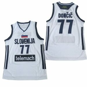 Basketball Jerseys SLOVENIJA 77 TELEMACH Jersey Embroidery All Stitched Outdoor