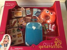"""OUR GENERATION Travel Luggage Suitcase Set Fits AMERICAN GIRL 18"""" Doll"""