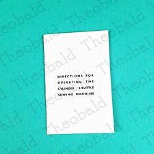 SEWING MACHINE MANUAL/BOOK FITS SINGER 28K, 27K-JONES CS-MANY GERMAN MACHINES