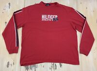 TOMMY HILFIGER - Vtg Red Athletic Department 85 Long Sleeve T-shirt, Mens XL