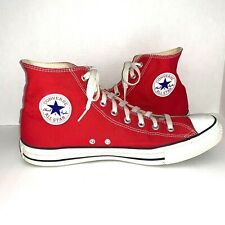 Converse All Star Chuck Taylor Hi-Top Canvas Shoes Red Men's Size 12 Women's 14