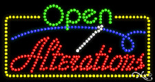 """New """"Open Alterations"""" 32x17 Solid/Animated Led Sign W/Custom Options 25444"""
