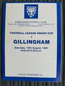 81/2 Wimbledon vs Gillingham (Football League Group Cup)