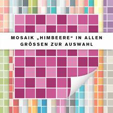 Fliesenaufkleber Mosaik Himbeere | Fliesensticker Küche Bad | alle Größen