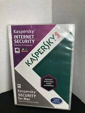 Kaspersky Internet Security 2012 For Mac OSX 10 Windows 8 Sealed Brand New