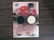 2000-01 SPX Winning Materials Hockey #TO Tony Amonte Jersey Card (B7) Blackhawks